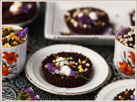 Homemade Dark Chocolate Peanut Butter Cups by theresahelmer