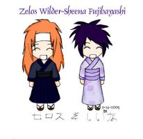 Zelos and Sheena by ChibiRed