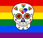 Gay Pride sugar skull by ScorpionsKissx