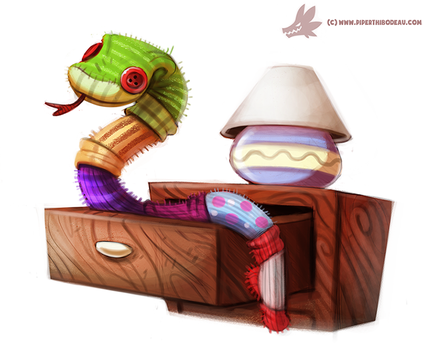 Daily Paint #982. Sock Snekkk (OG) by Cryptid-Creations