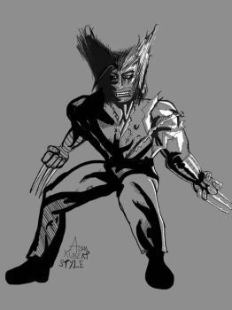 Adam Kubert style Wolverine  by Number1Exile