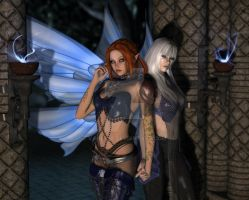 Doramu and Silkywing by Vanesse