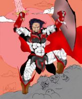 Ares in battle armor by hiasi
