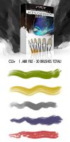 Realistic Gouache and Acrylic Photoshop Brushes by ArtistMEF