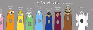 A lot of fans by rony-robber