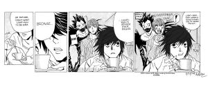 Death note spoof comic by OrangeBlueCream