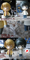 Death Note Figures: L and R by Kaminari-sama