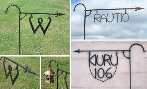 Forged name signs by Astalo