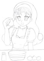 -Art Trade Lineart- Cooking Mama Popuri by Chicken-Yuki