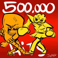 500000 by JHALLpokemon