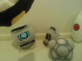 Portal 2 Plush family by Kai-ni