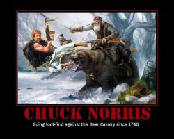 Chuck Norris vs the Bear Caval by SephiX22