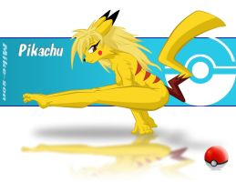 Pikachu handstand colored by mike-son