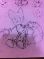 Tails sketch by Memaiva