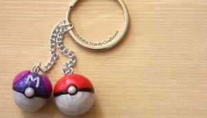 Pokeball Keychain Tutorial (polymer clay) by NerdEcrafter