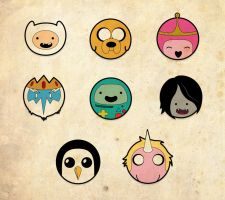 Adventure time buttons by Tenoh82