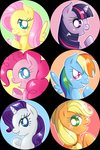 Friendship Is Magic pins by inumocchi
