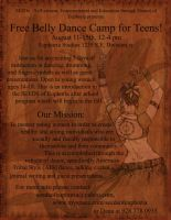 Bellydance Camp Poster - Drawn by Orhasket