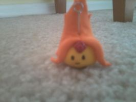Flame princess clay charm by Kittyuke