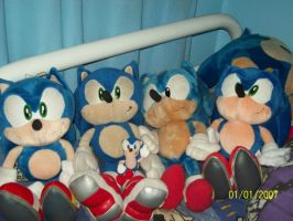 Sonic plush collection by Firestar-the-Werecat