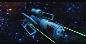 TIE Obliterator 3D Commission by AdamKop