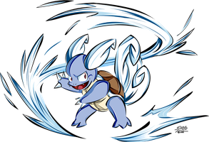 Wartortle uses Whirpool by R-no71