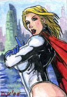 Powergirl 3 Sketch Card by DKuang