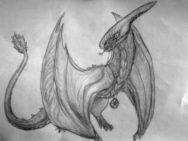 Smoke the Weeping Blood-Wyvern by Soulsplosion