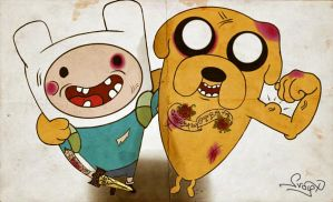 Adventure Time, Fin Jake by OnBlast