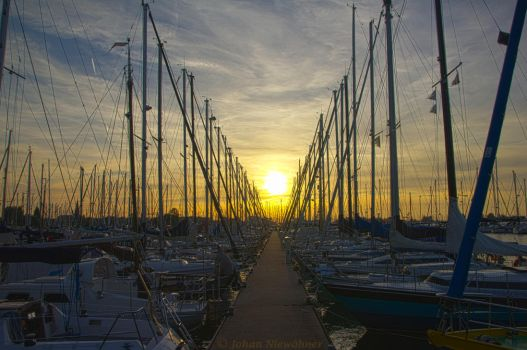 Sunset at Monnickendam HDR by jochniew