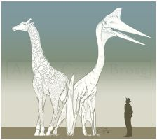 How Tall was Quetzalcoatlus? by BlueCea