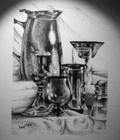 Pen And Ink Still Life by kaileynobles