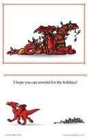 2009 Dragon Christmas Card by zelink14