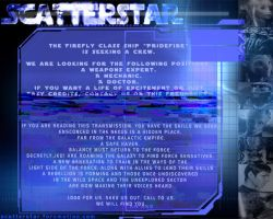 ScatterStar - Multiverse Forum RPG advertisement by AnarchicQ