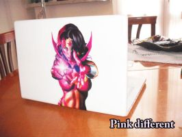 PINK DIFFERENT 00 macbook Decal by EsseDue