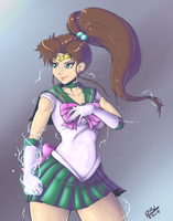 Sailor Jupiter Redraw by RandomBoobGuy-dA
