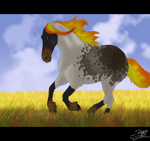 Fire on the plains by Whitelupine