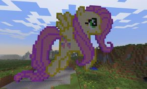 Fluttershy in minecraft by Dutchcrafter