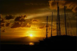 Sunset on the Masts by TSVN