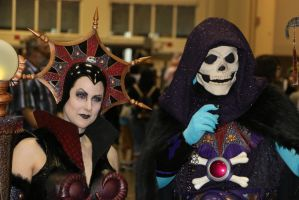 Megacon 2014: Skeletor and Evil-Lyn by pgw-Chaos