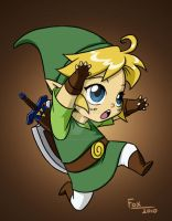 Link chibi commission by DeanGrayson