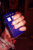 Doctor Who Bowties are Cool Nails by Nanaxxis-inxxthe-Uk