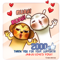 2000 Kisses by jujubes