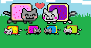 Nyan family by J-K1M