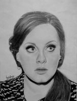 Adele Pencil Portrait by morningcoffeebreak