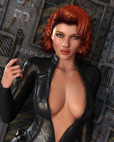 BLACK WIDOW: An Avenger Pinup by Furbs3D