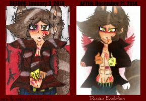 Before and After: Damien Evolution by Mario-Wolfe