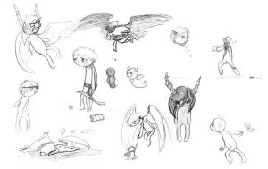 Binding of Isaac Sketch Dump by Alfirin