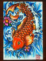 Postcard 7: Koi by stormyinthenorth