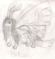 Character re-desing: Chikaze by LPS100